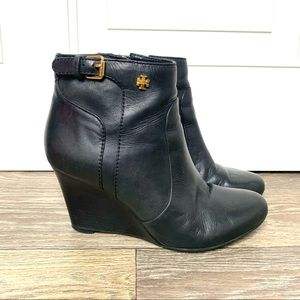 Tory Burch Black Leather Milan Ankle Boots